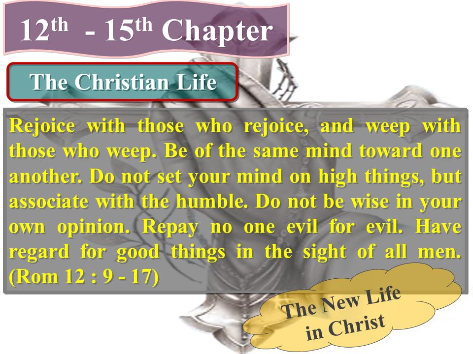 12th - 15th Chapter The Christian Life