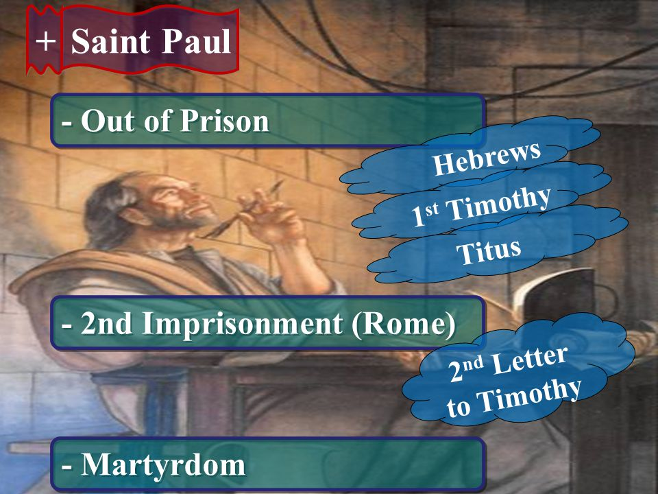+ Saint Paul - Out of Prison - 2nd Imprisonment (Rome) - Martyrdom