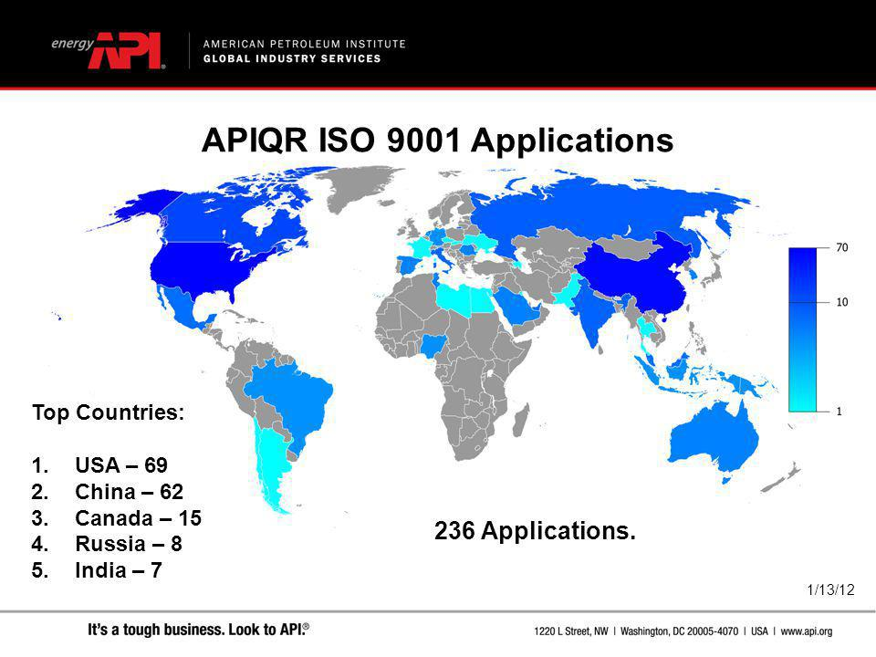 APIQR ISO 9001 Applications