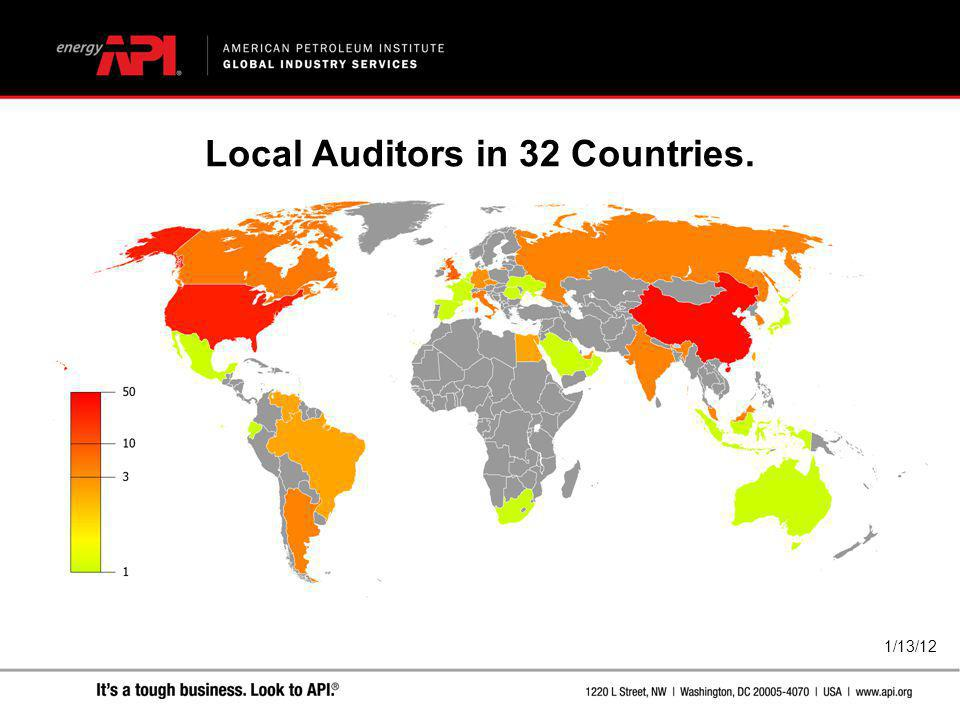 Local Auditors in 32 Countries.