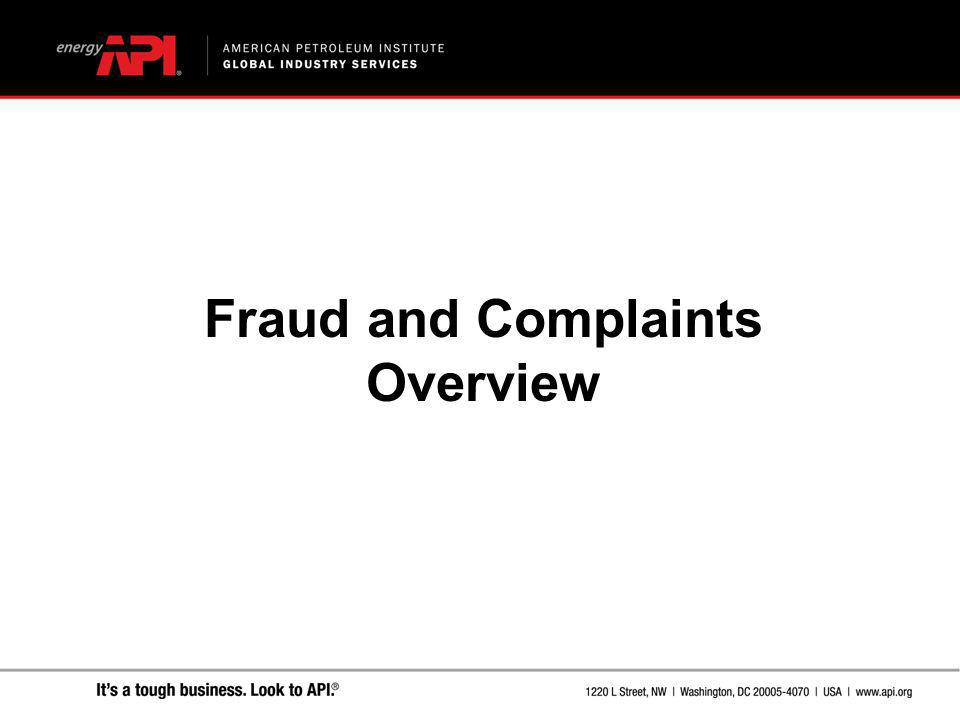 Fraud and Complaints Overview