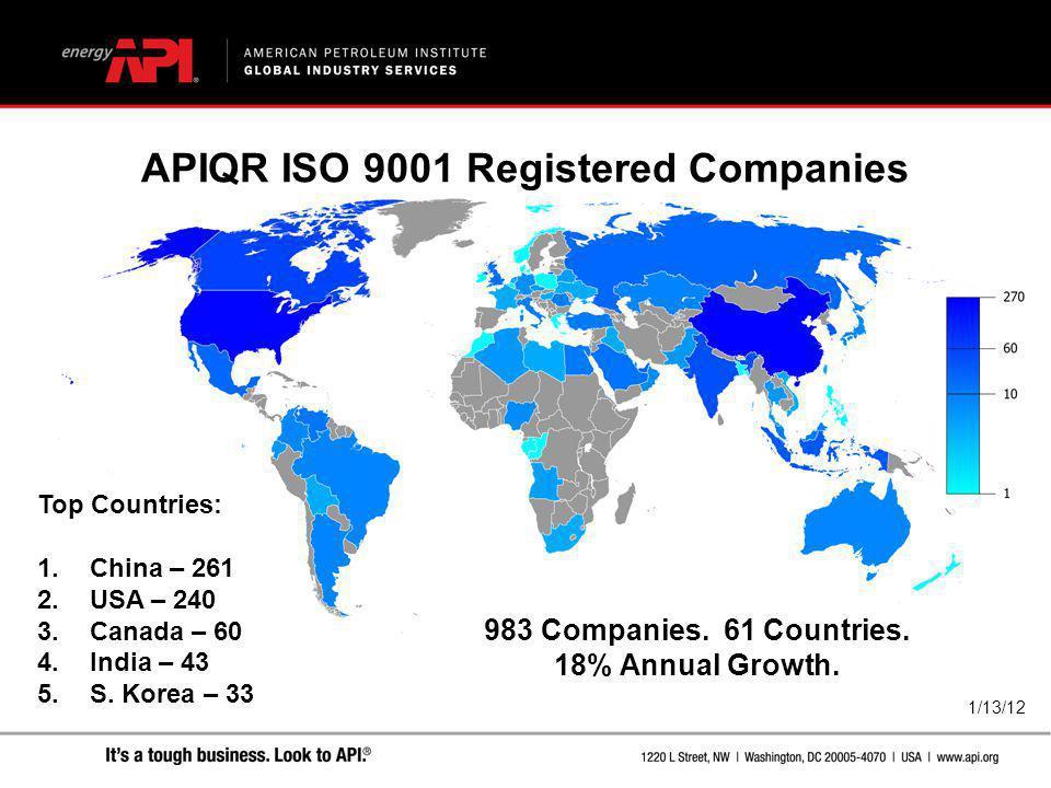 APIQR ISO 9001 Registered Companies