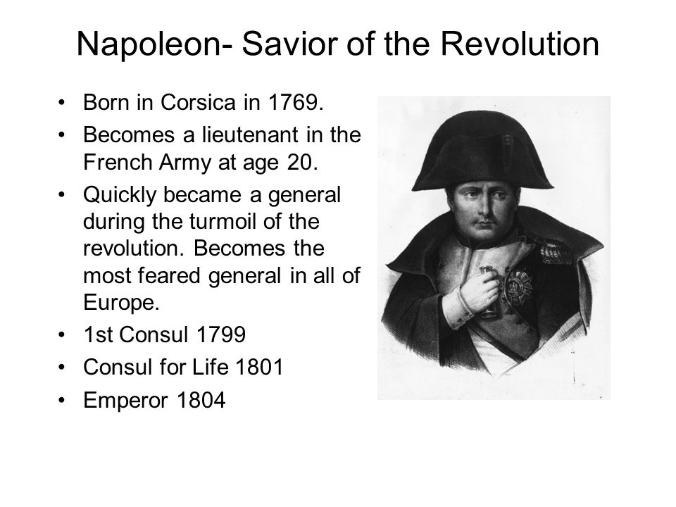 Napoleon- Savior of the Revolution
