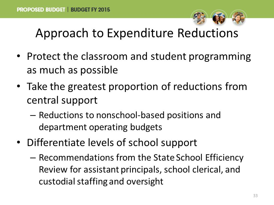 Approach to Expenditure Reductions