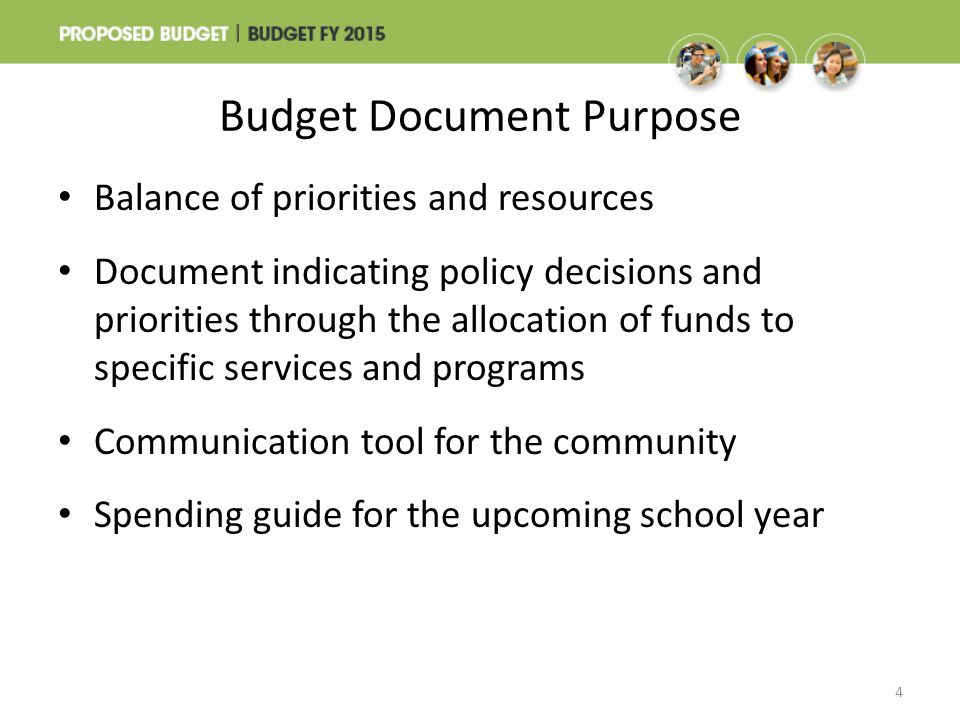 Budget Document Purpose
