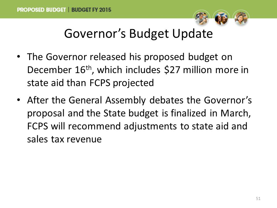 Governor's Budget Update