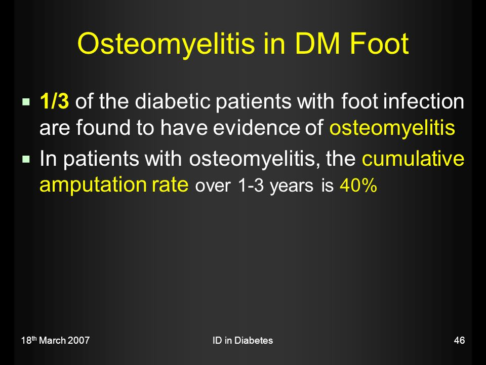 Osteomyelitis in DM Foot