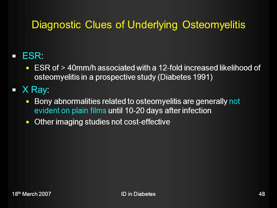 Diagnostic Clues of Underlying Osteomyelitis