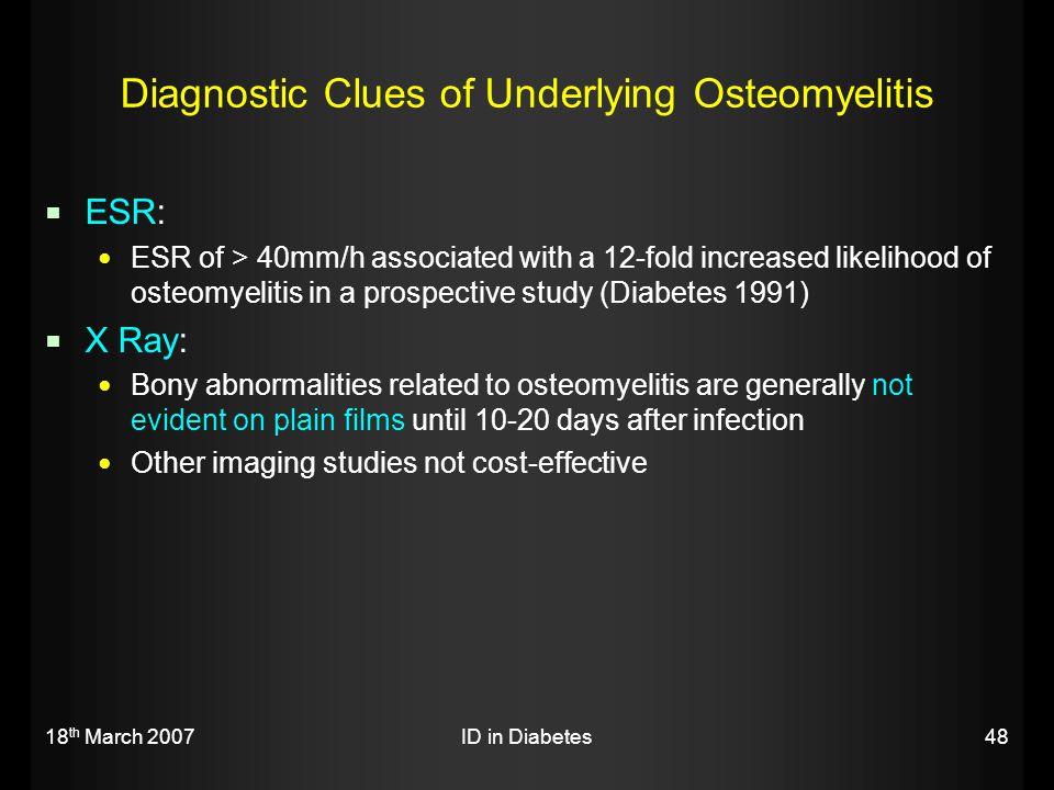 Diagnostic Clues of Underlying Osteomyelitis