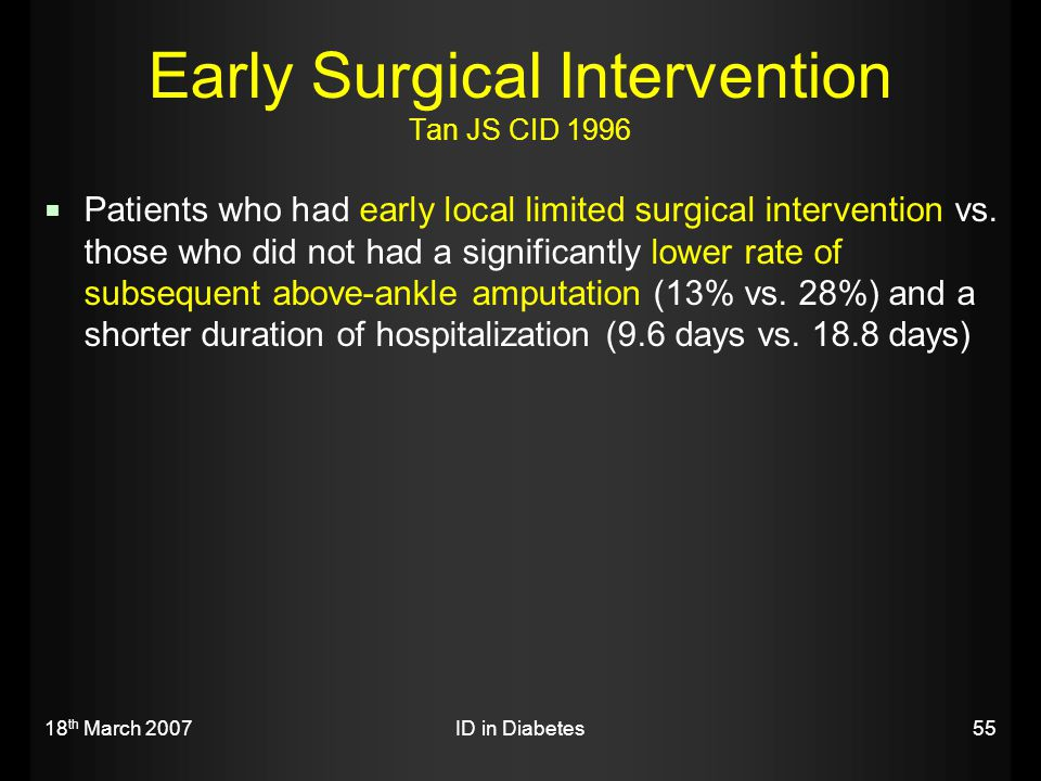 Early Surgical Intervention Tan JS CID 1996