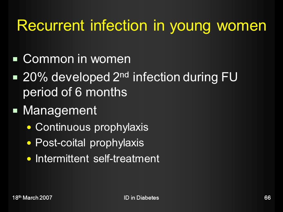 Recurrent infection in young women