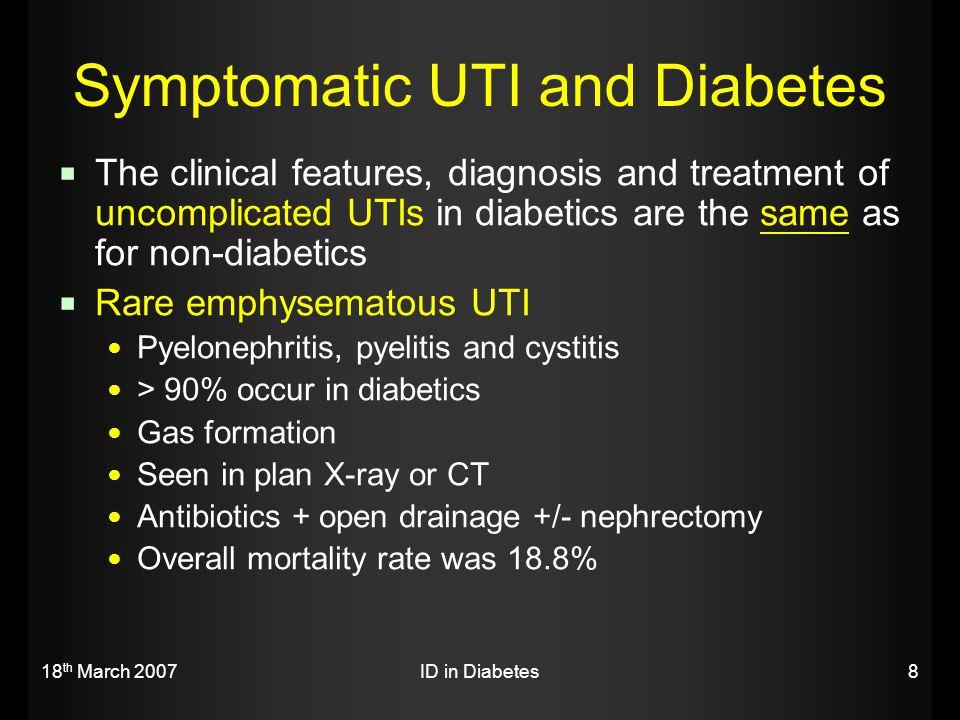 Symptomatic UTI and Diabetes