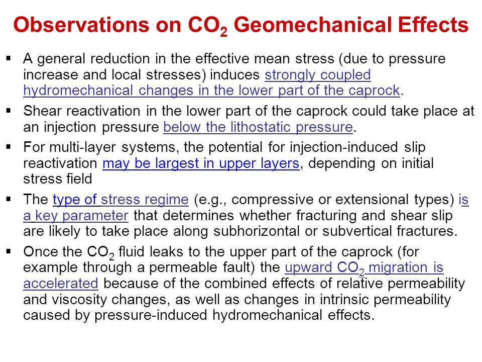 Observations on CO2 Geomechanical Effects