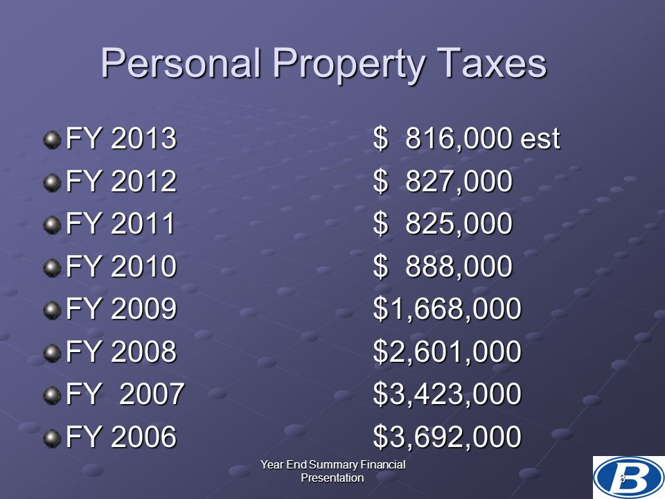 Personal Property Taxes