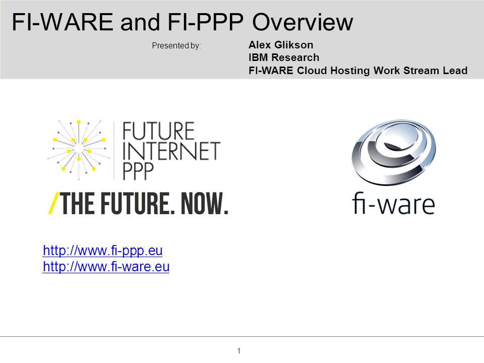 FI-WARE and FI-PPP Overview