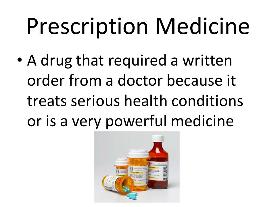 Prescription Medicine