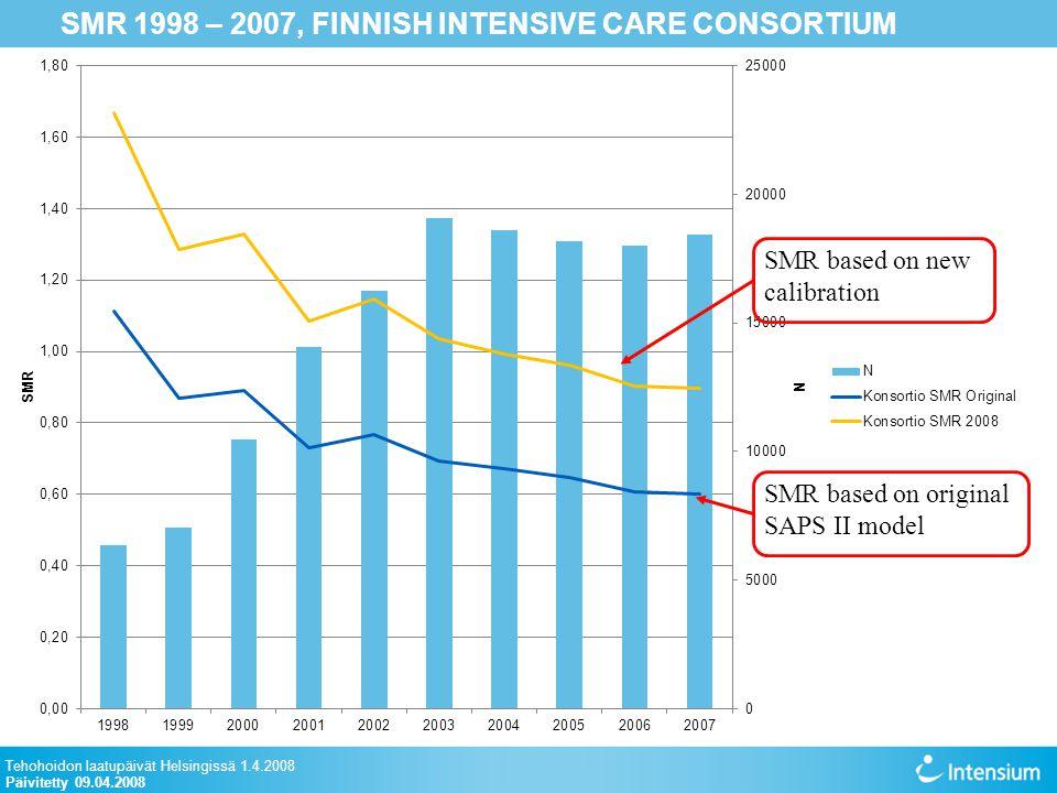 SMR 1998 – 2007, FINNISH INTENSIVE CARE CONSORTIUM