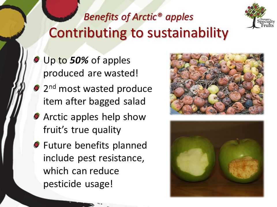 Benefits of Arctic® apples Contributing to sustainability