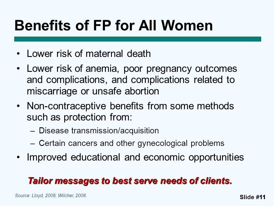 Benefits of FP for All Women