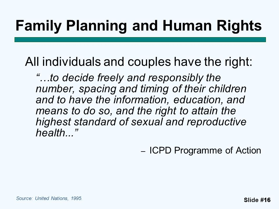Family Planning and Human Rights