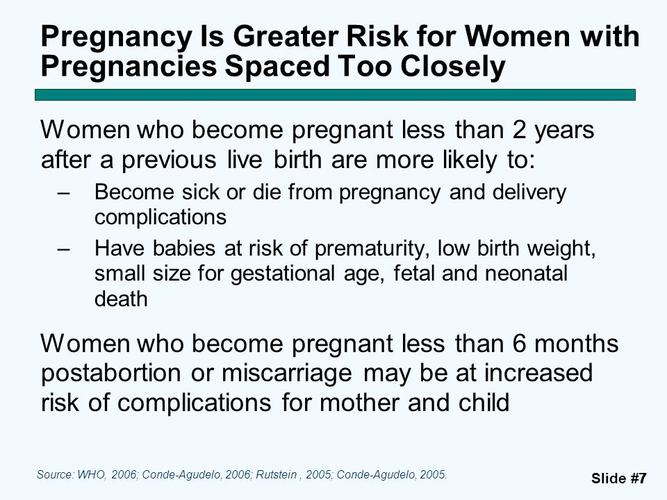 Pregnancy Is Greater Risk for Women with Pregnancies Spaced Too Closely