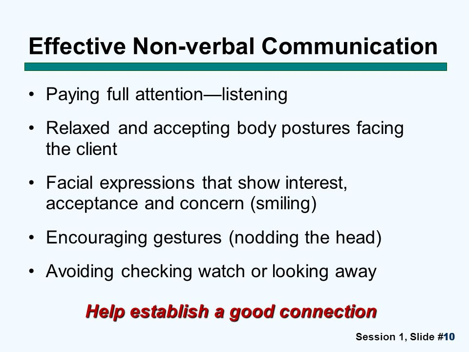 Effective Non-verbal Communication