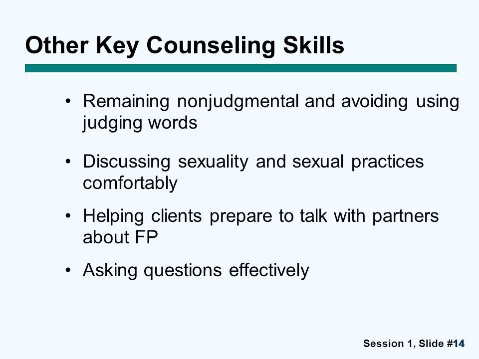 Other Key Counseling Skills