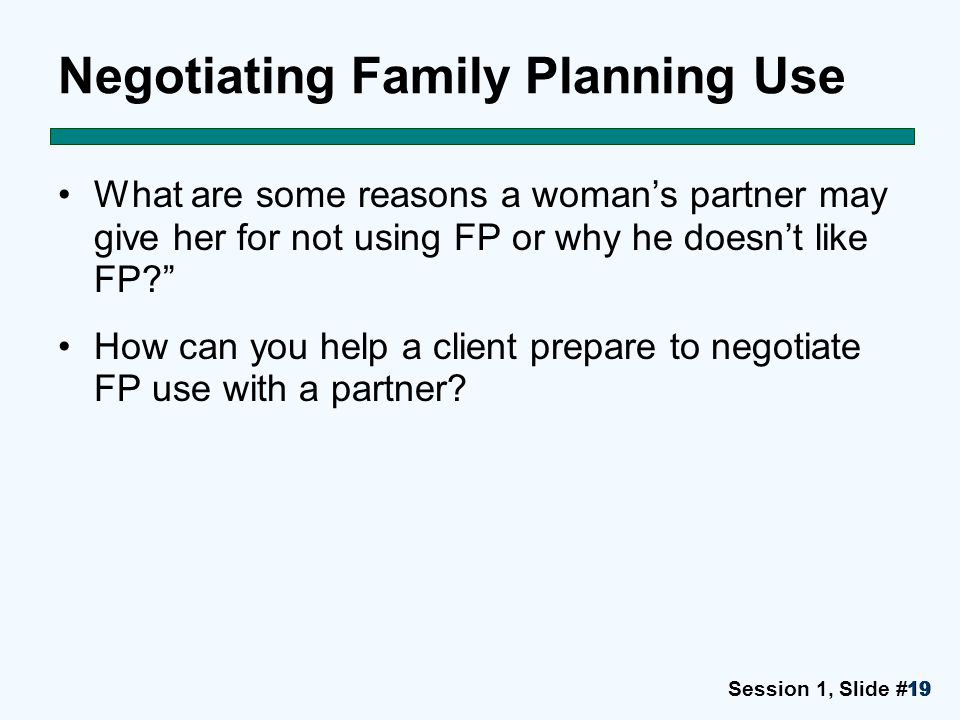 Negotiating Family Planning Use