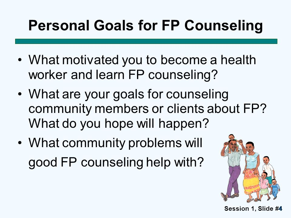 Personal Goals for FP Counseling