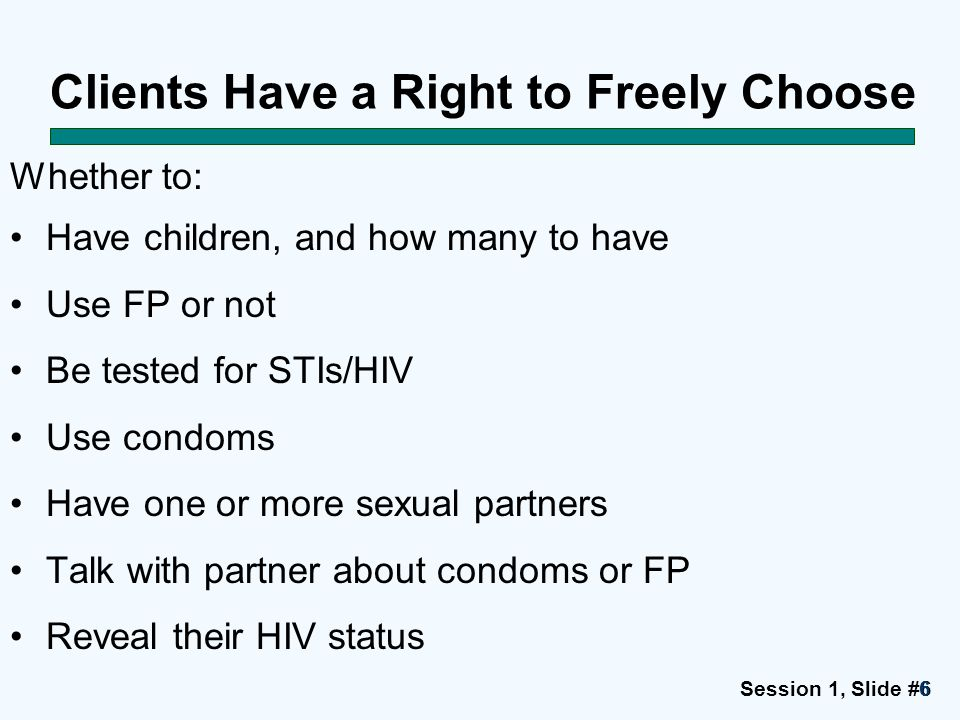 Clients Have a Right to Freely Choose