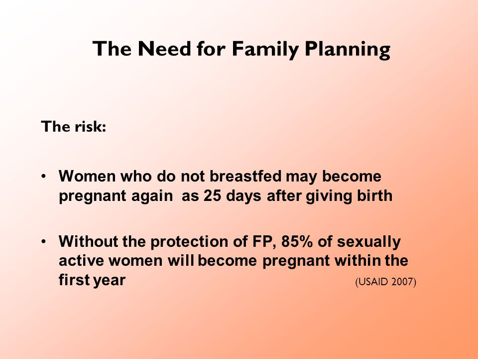 The Need for Family Planning