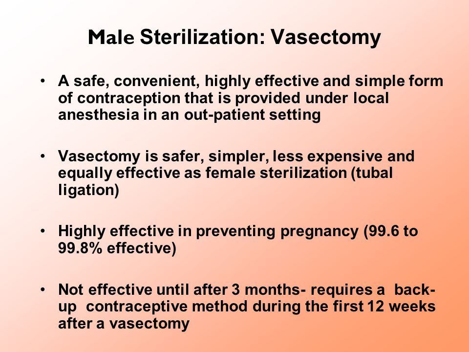Male Sterilization: Vasectomy