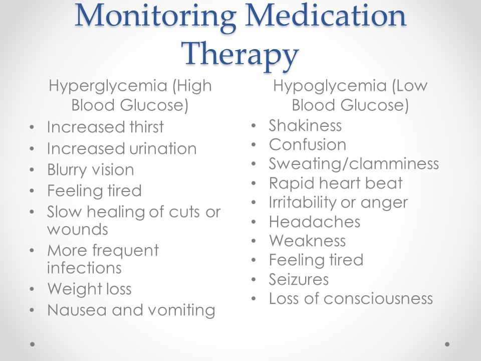Monitoring Medication Therapy