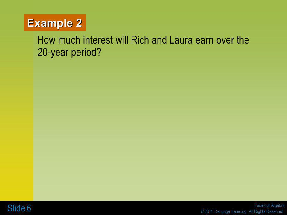 How much interest will Rich and Laura earn over the 20-year period