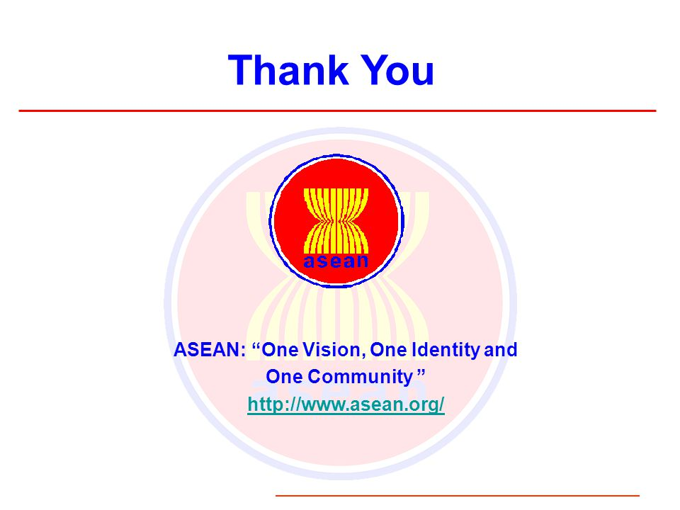 ASEAN: One Vision, One Identity and