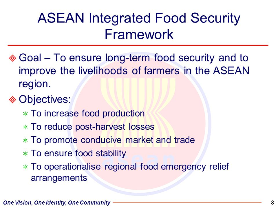ASEAN Integrated Food Security Framework