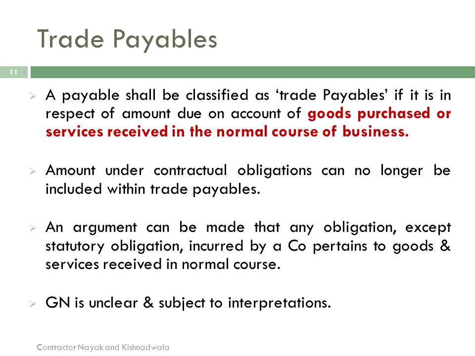 Trade Payables