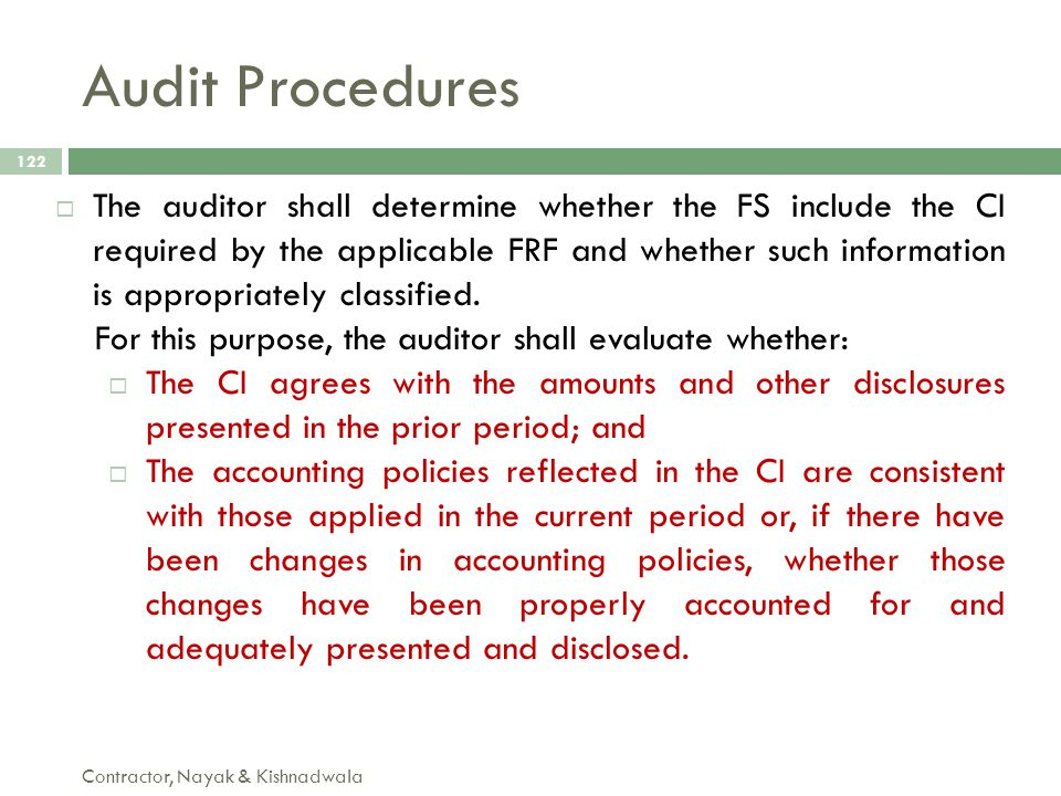 Audit Procedures