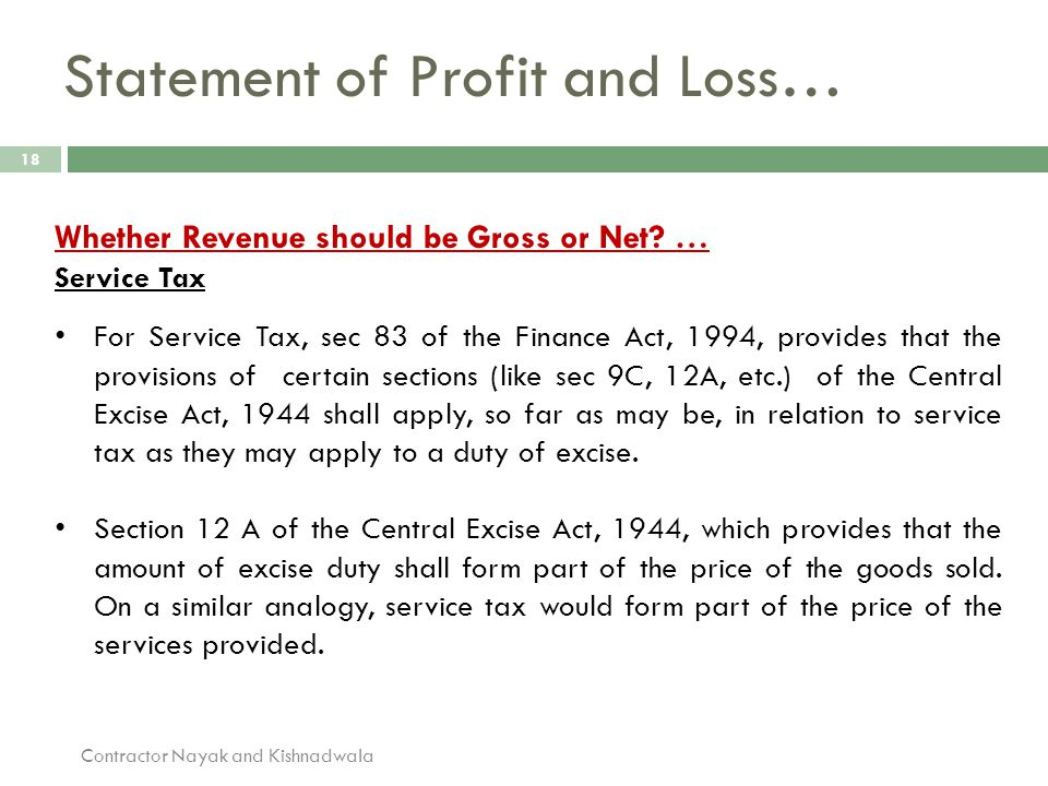 Statement of Profit and Loss…
