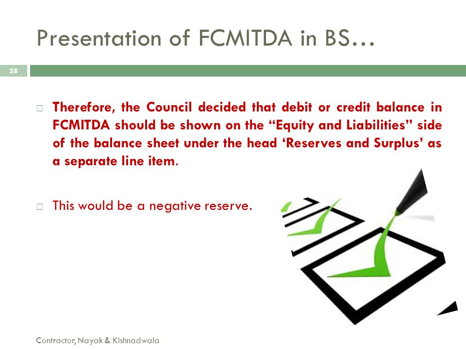 Presentation of FCMITDA in BS…