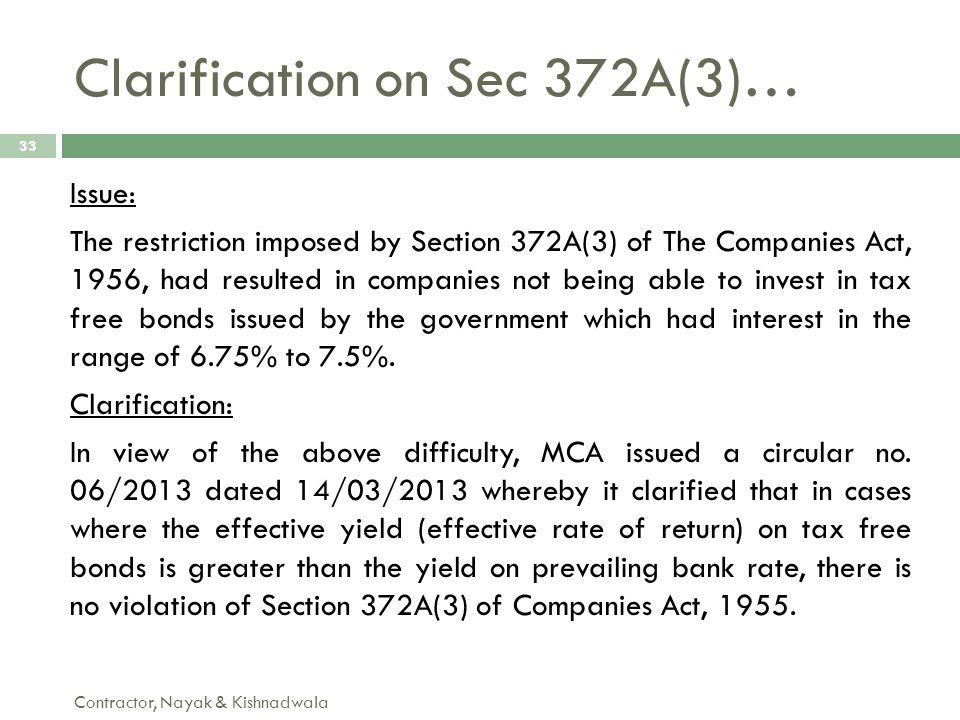 Clarification on Sec 372A(3)…