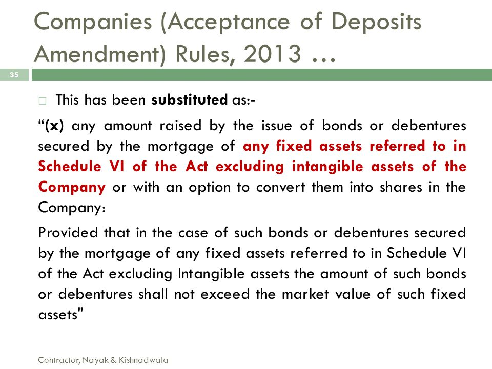 Companies (Acceptance of Deposits Amendment) Rules, 2013 …