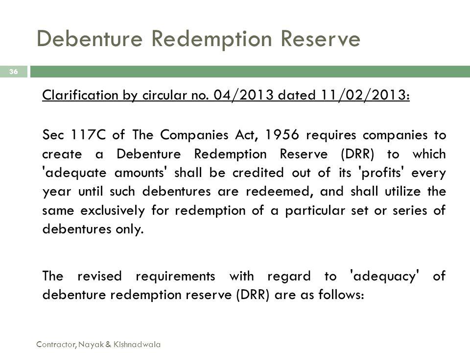 Debenture Redemption Reserve