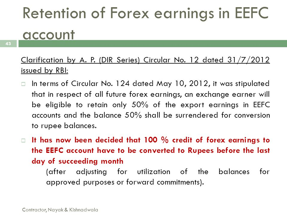 Forex means only earning profits.