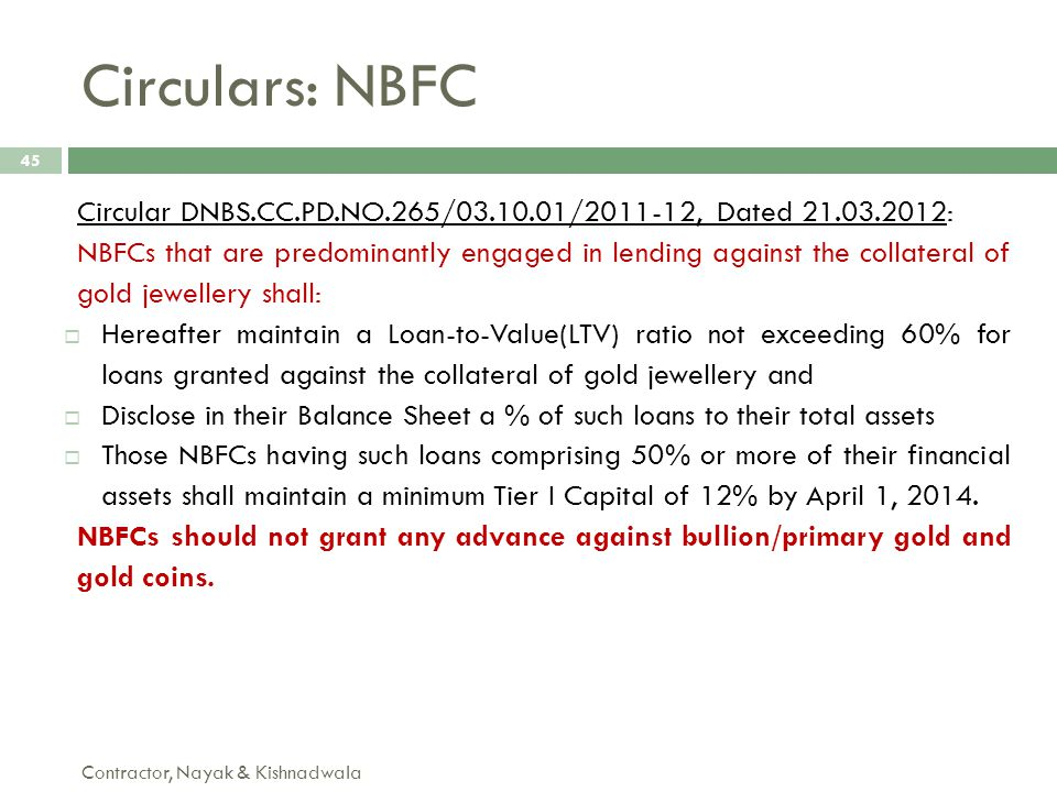 Circulars: NBFC Circular DNBS.CC.PD.NO.265/03.10.01/2011-12, Dated 21.03.2012: