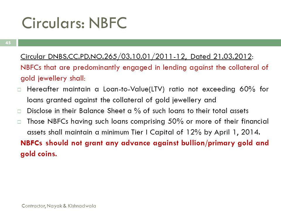 Circulars: NBFC Circular DNBS.CC.PD.NO.265/03.10.01/2011-12, Dated 21.03.2012: