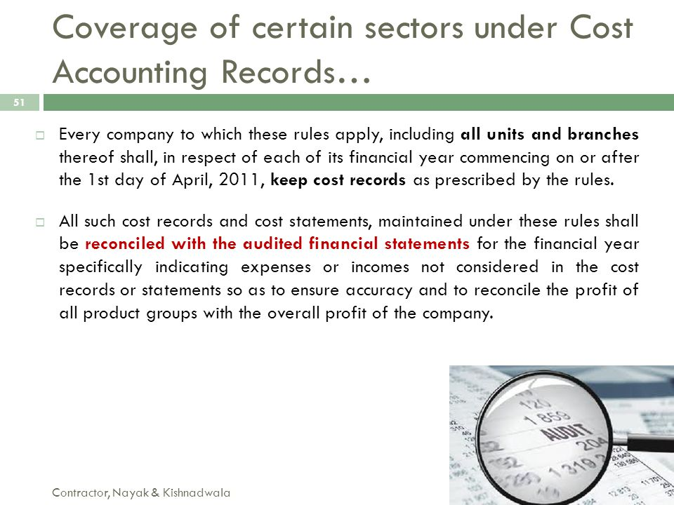 Coverage of certain sectors under Cost Accounting Records…
