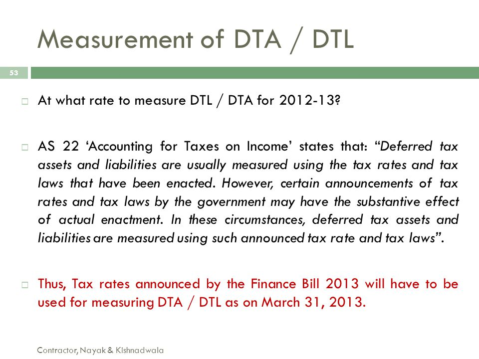 Measurement of DTA / DTL