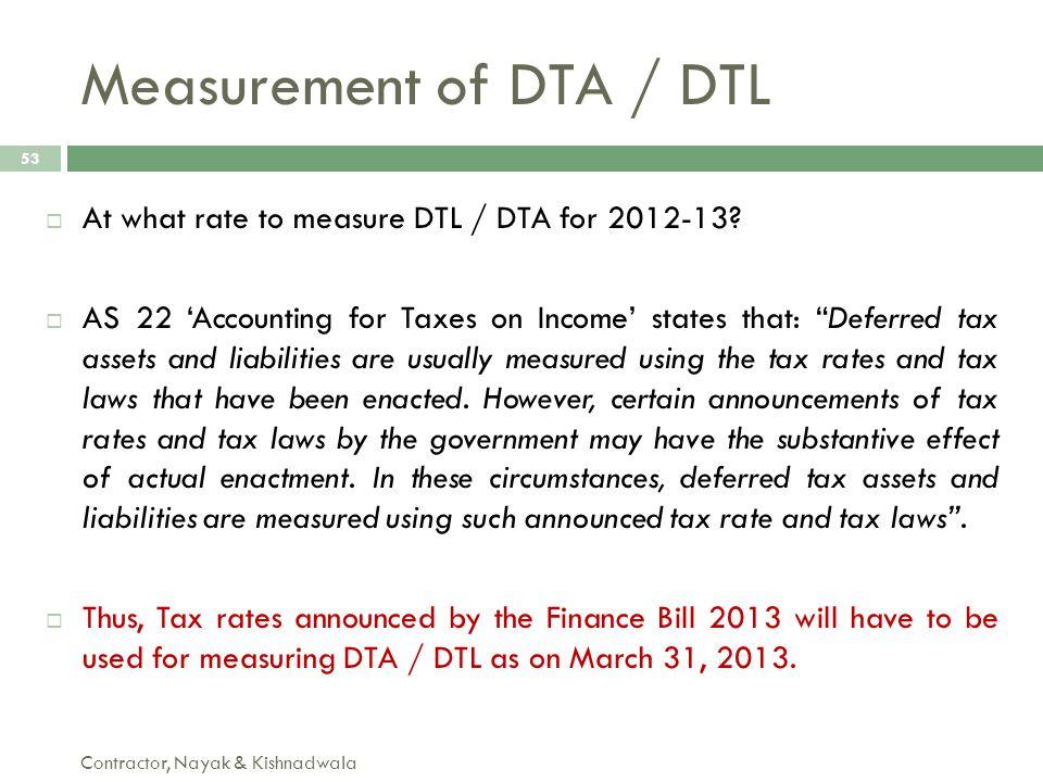 Measurement of DTA / DTL