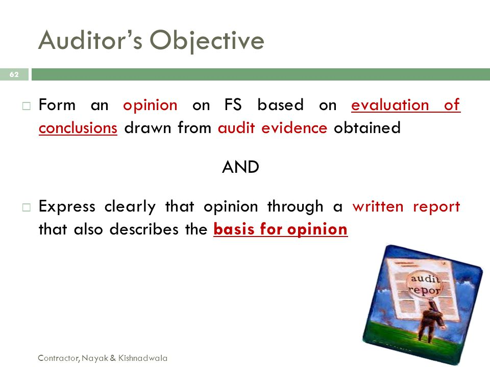 Auditor's Objective AND